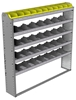 "24-6163-5 Square back bin separator combo shelf unit 67""Wide x 11.5""Deep x 63""High with 5 shelves"