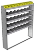 "24-6172-5 Square back bin separator combo shelf unit 67""Wide x 11.5""Deep x 72""High with 5 shelves"