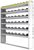 "24-6172-6 Square back bin separator combo shelf unit 67""Wide x 11.5""Deep x 72""High with 6 shelves"