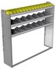 "24-6358-3 Square back bin separator combo shelf unit 67""Wide x 13.5""Deep x 58""High with 3 shelves"
