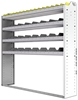 "24-6363-4 Square back bin separator combo shelf unit 67""Wide x 13.5""Deep x 63""High with 4 shelves"