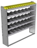 "24-6363-5 Square back bin separator combo shelf unit 67""Wide x 13.5""Deep x 63""High with 5 shelves"