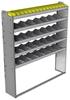 "24-6372-5 Square back bin separator combo shelf unit 67""Wide x 13.5""Deep x 72""High with 5 shelves"