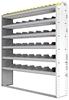 "24-6372-6 Square back bin separator combo shelf unit 67""Wide x 13.5""Deep x 72""High with 6 shelves"