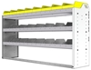 "24-6536-3 Square back bin separator combo shelf unit 67""Wide x 15.5""Deep x 36""High with 3 shelves"
