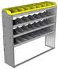 "24-6558-4 Square back bin separator combo shelf unit 67""Wide x 15.5""Deep x 58""High with 4 shelves"