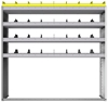 "24-6563-4 Square back bin separator combo shelf unit 67""Wide x 15.5""Deep x 63""High with 4 shelves"