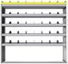 "24-6563-5 Square back bin separator combo shelf unit 67""Wide x 15.5""Deep x 63""High with 5 shelves"