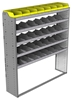 "24-6572-5 Square back bin separator combo shelf unit 67""Wide x 15.5""Deep x 72""High with 5 shelves"