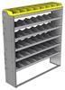 "24-6572-6 Square back bin separator combo shelf unit 67""Wide x 15.5""Deep x 72""High with 6 shelves"
