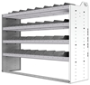 "24-6848-4 Square back bin separator combo shelf unit 67""Wide x 18.5""Deep x 48""High with 4 shelves"