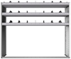 "24-6858-3 Square back bin separator combo shelf unit 67""Wide x 18.5""Deep x 58""High with 3 shelves"