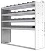 "24-6858-4 Square back bin separator combo shelf unit 67""Wide x 18.5""Deep x 58""High with 4 shelves"