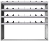 "24-6858-4 Square back bin separator combo shelf unit 67""Wide x 18.5""Deep x 58""High with 4 shelves"