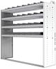 "24-6863-4 Square back bin separator combo shelf unit 67""Wide x 18.5""Deep x 63""High with 4 shelves"