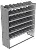 "24-6872-6 Square back bin separator combo shelf unit 67""Wide x 18.5""Deep x 72""High with 6 shelves"