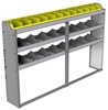 "24-7148-3 Square back bin separator combo shelf unit 75""Wide x 11.5""Deep x 48""High with 3 shelves"