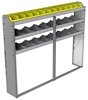 "24-7158-3 Square back bin separator combo shelf unit 75""Wide x 11.5""Deep x 58""High with 3 shelves"