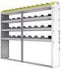 "24-7158-4 Square back bin separator combo shelf unit 75""Wide x 11.5""Deep x 58""High with 4 shelves"