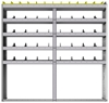 "24-7172-5 Square back bin separator combo shelf unit 75""Wide x 11.5""Deep x 72""High with 5 shelves"