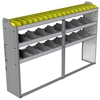 "24-7348-3 Square back bin separator combo shelf unit 75""Wide x 13.5""Deep x 48""High with 3 shelves"