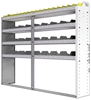 "24-7358-4 Square back bin separator combo shelf unit 75""Wide x 13.5""Deep x 58""High with 4 shelves"