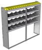 "24-7363-4 Square back bin separator combo shelf unit 75""Wide x 13.5""Deep x 63""High with 4 shelves"
