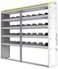 "24-7363-5 Square back bin separator combo shelf unit 75""Wide x 13.5""Deep x 63""High with 5 shelves"