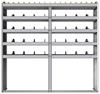 "24-7372-5 Square back bin separator combo shelf unit 75""Wide x 13.5""Deep x 72""High with 5 shelves"