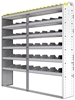 "24-7372-6 Square back bin separator combo shelf unit 75""Wide x 13.5""Deep x 72""High with 6 shelves"