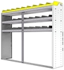 "24-7558-3 Square back bin separator combo shelf unit 75""Wide x 15.5""Deep x 58""High with 3 shelves"