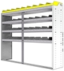"24-7558-4 Square back bin separator combo shelf unit 75""Wide x 15.5""Deep x 58""High with 4 shelves"