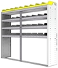 "24-7563-4 Square back bin separator combo shelf unit 75""Wide x 15.5""Deep x 63""High with 4 shelves"