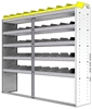 "24-7563-5 Square back bin separator combo shelf unit 75""Wide x 15.5""Deep x 63""High with 5 shelves"