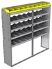 "24-7572-5 Square back bin separator combo shelf unit 75""Wide x 15.5""Deep x 72""High with 5 shelves"