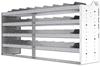 "24-7836-4 Square back bin separator combo shelf unit 75""Wide x 18.5""Deep x 36""High with 4 shelves"