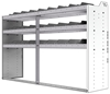"24-7848-3 Square back bin separator combo shelf unit 75""Wide x 18.5""Deep x 48""High with 3 shelves"