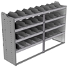 "24-7848-4 Square back bin separator combo shelf unit 75""Wide x 18.5""Deep x 48""High with 4 shelves"