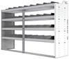"24-7848-4 Square back bin separator combo shelf unit 75""Wide x 18.5""Deep x 48""High with 4 shelves"