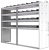 "24-7858-4 Square back bin separator combo shelf unit 75""Wide x 18.5""Deep x 58""High with 4 shelves"