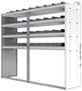 "24-7863-4 Square back bin separator combo shelf unit 75""Wide x 18.5""Deep x 63""High with 4 shelves"