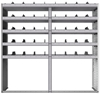 "24-7872-5 Square back bin separator combo shelf unit 75""Wide x 18.5""Deep x 72""High with 5 shelves"