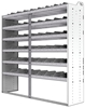 "24-7872-6 Square back bin separator combo shelf unit 75""Wide x 18.5""Deep x 72""High with 6 shelves"