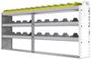 "24-8136-3 Square back bin separator combo shelf unit 84""Wide x 11.5""Deep x 36""High with 3 shelves"