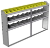 "24-8148-3 Square back bin separator combo shelf unit 84""Wide x 11.5""Deep x 48""High with 3 shelves"