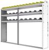 "24-8158-3 Square back bin separator combo shelf unit 84""Wide x 11.5""Deep x 58""High with 3 shelves"