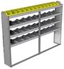 "24-8158-4 Square back bin separator combo shelf unit 84""Wide x 11.5""Deep x 58""High with 4 shelves"