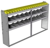 "24-8348-3 Square back bin separator combo shelf unit 84""Wide x 13.5""Deep x 48""High with 3 shelves"