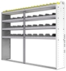 "24-8363-4 Square back bin separator combo shelf unit 84""Wide x 13.5""Deep x 63""High with 4 shelves"