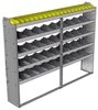"24-8363-5 Square back bin separator combo shelf unit 84""Wide x 13.5""Deep x 63""High with 5 shelves"